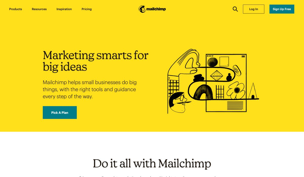 Website layout Mailchimp